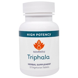 Savesta, Triphala, 10 Vegetarian Tablets