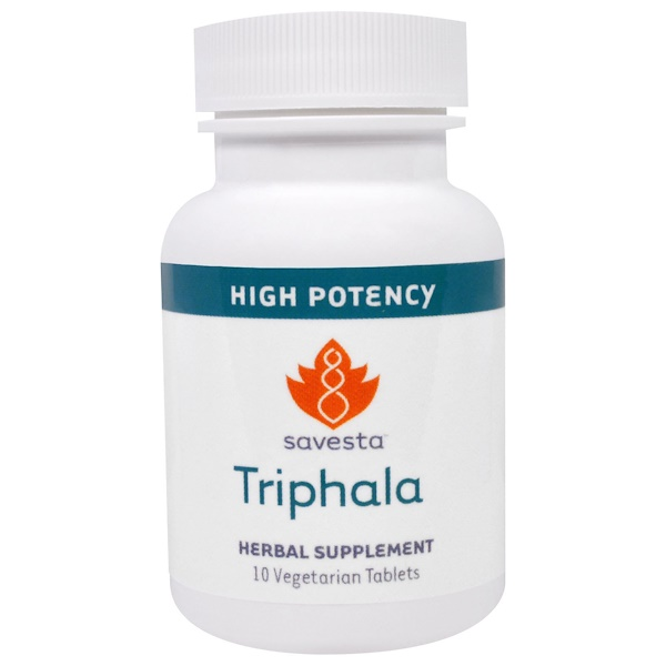 Savesta, Detoxification and Digestion, Triphala, 10 Veggie Tabs