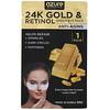 Azure Kosmetics, 24K Gold & Retinol, Under-Eye Pads, Anti-Aging, 5 Pairs