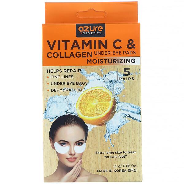Vitamin C & Collagen, Under-Eye Pads, Moisturizing,  5 Pairs