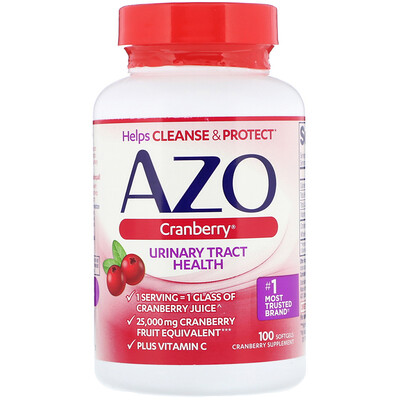 Azo Cranberry, Urinary Tract Health, 100 Softgels