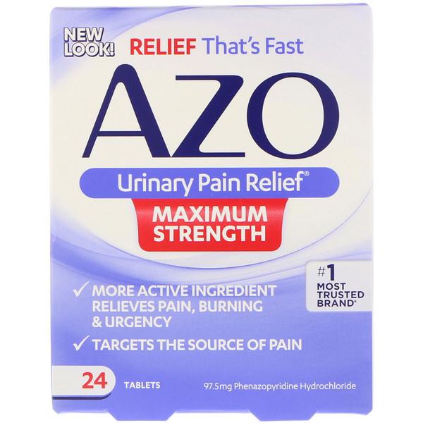 Azo, Urinary Pain Relief, Maximum Strength, 24 Tablets