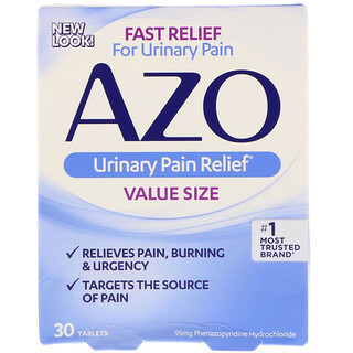 Azo, Urinary Pain Relief, 30 Tablets