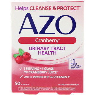 Azo, Urinary Tract Health, Cranberry, 50 Caplets