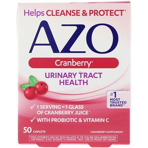 Азо, Urinary Tract Health, Cranberry, 50 Caplets отзывы покупателей