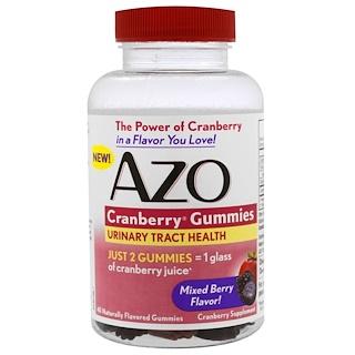 Azo, Клюквенный жевательный мармелад, со вкусом ягод, 40 жевательных мармеладок