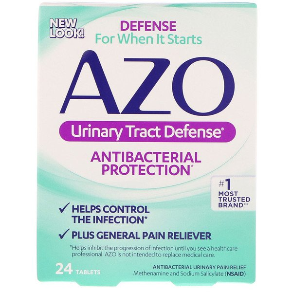 Azo, Urinary Tract Defense, Antibacterial Protection, 24 Tablets