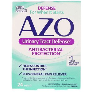 Азо, Urinary Tract Defense, Antibacterial Protection, 24 Tablets отзывы