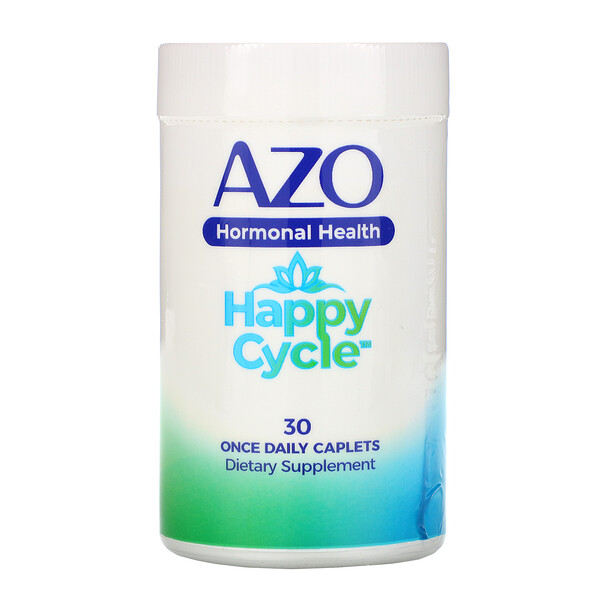 Azo, Hormonal Health, Happy Cycle, 30 Once Daily Caplets