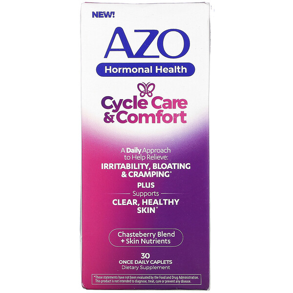 Hormonal Health, Cycle Care & Comfort, 30 Once Daily Caplets