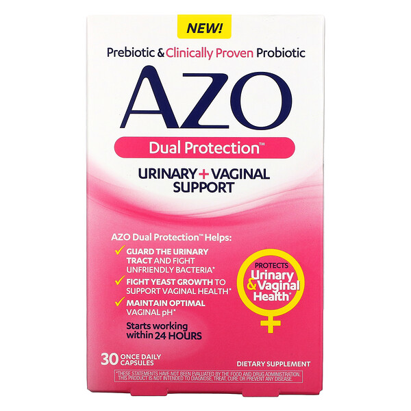 Dual Protection, Urinary + Vaginal Support, 30 Once Daily Capsules