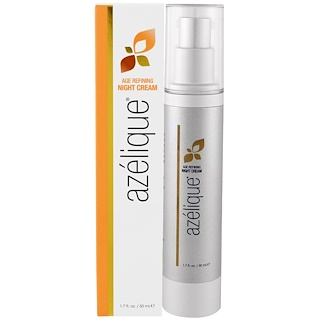 Azelique, Age Refining Night Cream, with Azelaic Acid, Moisturizing and Hydrating, No Parabens, No Sulfates, 1.7 fl. oz. (50 mL)