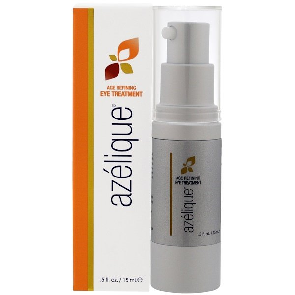 Azelique, Age Refining Eye Treatment, with Azelaic Acid, Rejuvenating and Hydrating, No Parabens, No Sulfates, .5 fl. oz. (15 mL)