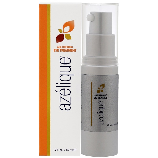Azelique, Age Refining Eye Treatment, with Azelaic Acid, Rejuvenating and Hydrating、パラベン不使用、硫酸塩不使用、.5液量オンス(15 mL)