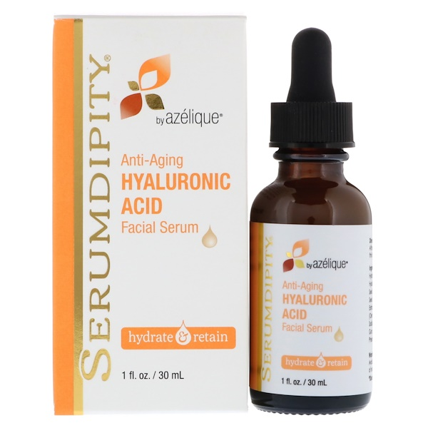 Azelique, Serumdipity, Hyaluronic Acid Facial Serum, Hydrating Skin Care, 1 fl oz (30 ml)