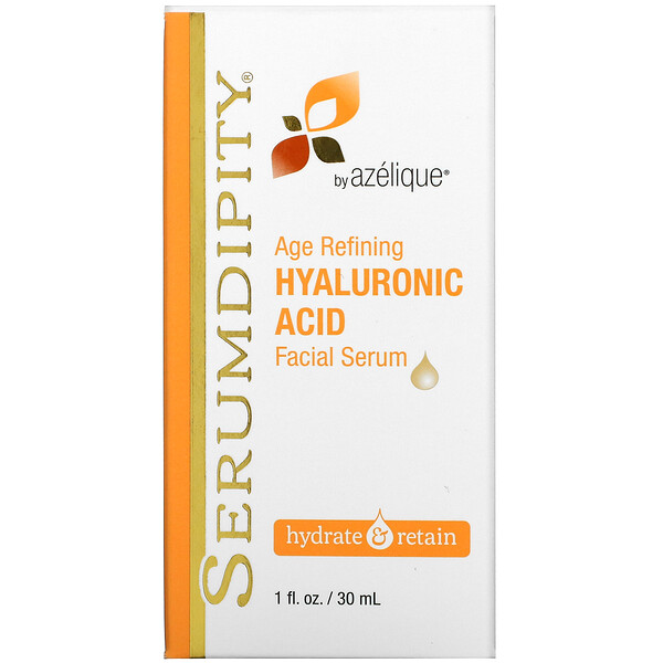 Serumdipity, Age Refining Hyaluronic Acid, Facial Serum, 1 fl oz (30 ml)