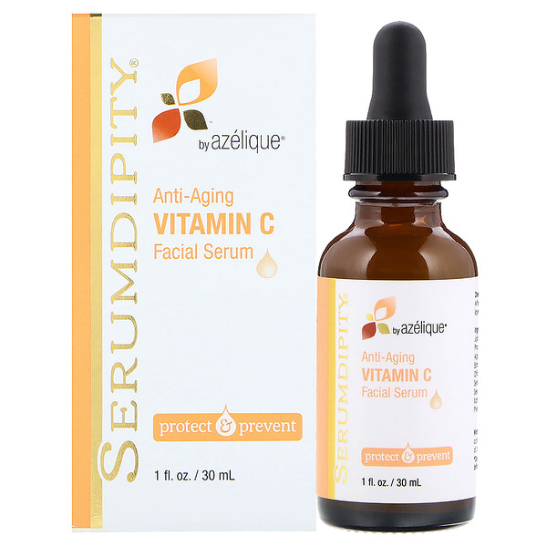 Azelique, Serumdipity, Vitamine C Anti-âge , Sérum Visage, 1 fl oz (30 ml)