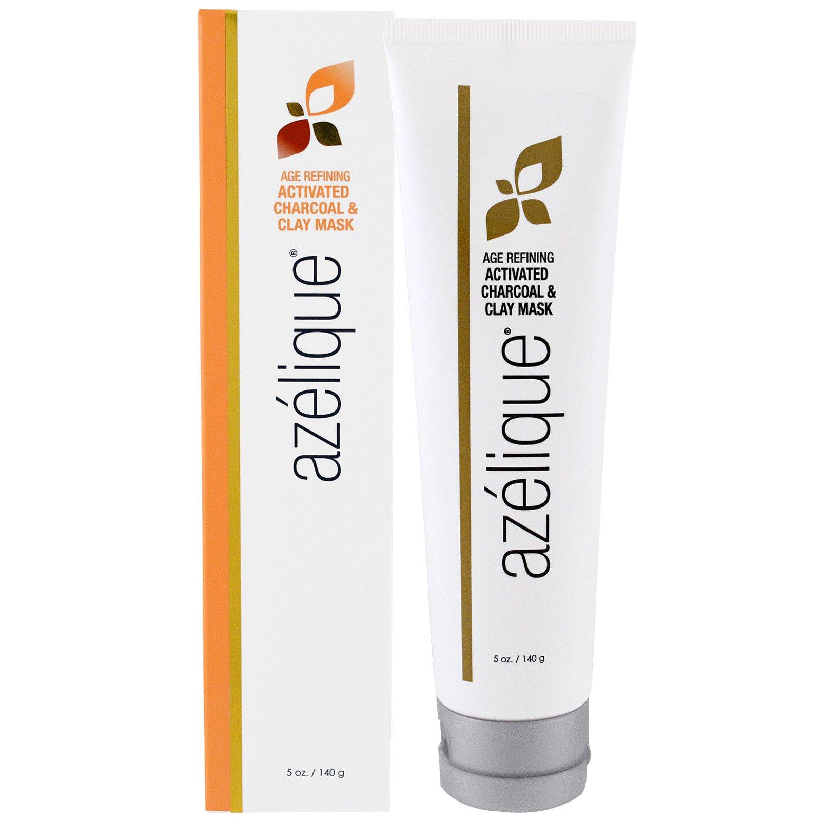 Azelique, Антивозрастная маска с активированным углем & глиной, с азелаиновой кислотой, выводит токсины и успокаивает кожу, без парабенов, без сульфатов, 5 унций (140 г)