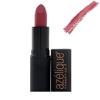 Azelique, 唇膏,Go Pink,零殘忍,認證純植物原料,0.13盎司(3.8毫升)
