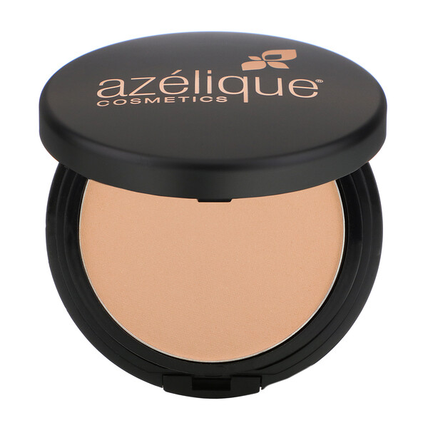 Azelique, Pressed Powder Satin Foundation, Light, Cruelty-Free, Certified Vegan, 0.35 oz (10 g) (Discontinued Item)