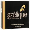 Azelique, 固形パウダーサテンファンデーション、ミディアム、動物実験なし、認定ビーガン、0.35オンス(10g)