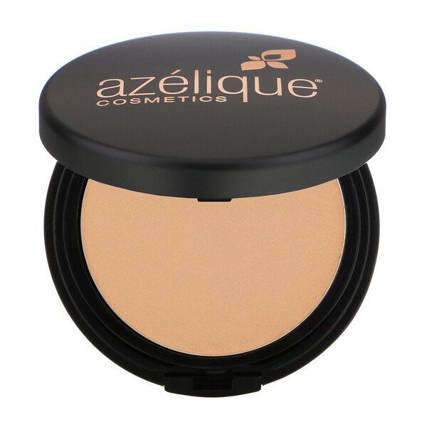 Azelique, Pressed Powder Satin Foundation, Medium, Cruelty-Free, Certified Vegan, 0.35 oz (10 g) (Discontinued Item)