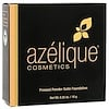 Azelique, Pressed Powder Satin Foundation, Tan-Deep, Cruelty-Free, Certified Vegan, 0.35 oz (10 g)
