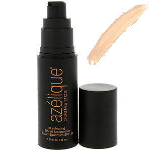 Азэлик, Illuminating Tinted Moisturizer, Cruelty-Free, Certified Vegan, Broad Spectrum SPF 20, Light, 1.18 fl oz (35 ml) отзывы покупателей