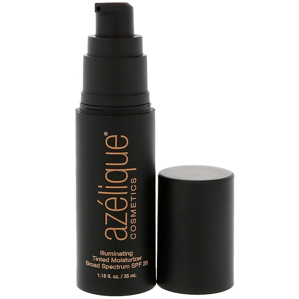 Azelique, Illuminating Tinted Moisturizer Broad Spectrum SPF 20, Medium, Cruelty-Free, Certified Vegan, 1.18 fl oz (35 ml)