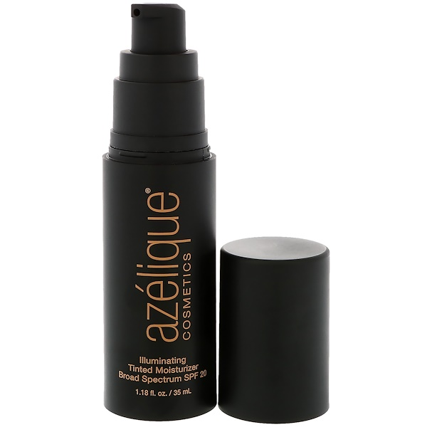 Azelique, Illuminating Tinted Moisturizer Broad Spectrum SPF 20, Tan-Deep, Cruelty-Free, Certified Vegan, 1.18 fl oz (35 ml)