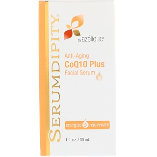 Azelique, Serumdipity, CoQ10 Plus Facial Serum, Anti-Aging, 1 fl oz (30 ml)