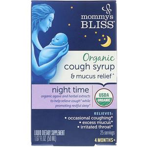 Мамис Блис, Organic Cough Syrup & Mucus Relief, Night Time, 4 Months+, 1.67 fl oz (50 ml) отзывы