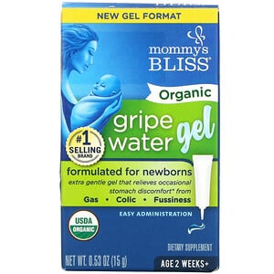 Mommy's Bliss, Organic Gripe Water Gel, 2 Weeks+, 0.53 oz ( 15 g)