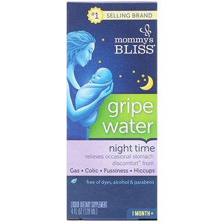 Mommy's Bliss, Night Time, Gripe Water, 1 Month+, 4 fl oz (120 ml)