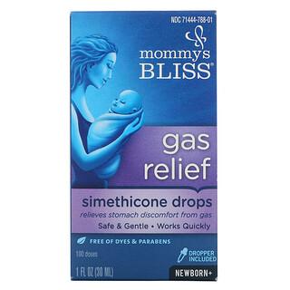 Mommy's Bliss, تخفيف الغازات، نقاط السيميثيكون، للأطفال حديثي الولادة فأكبر، 1 أونصة سائلة (30 مل)