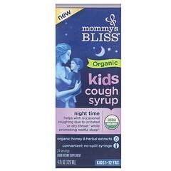 Mommy's Bliss, 兒童,有機咳嗽糖漿,夜間,1-12 歲,4 液量盎司(120 毫升)