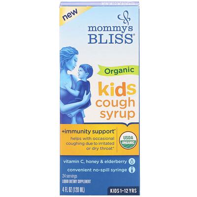 Купить Mommy's Bliss Kids, Organic Cough Syrup + Immunity Support, 1-12 Yrs, 4 fl oz (120 ml)