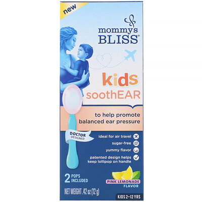 Купить Mommy's Bliss Kids, SoothEAR, Pink Lemonade, 2 Pops