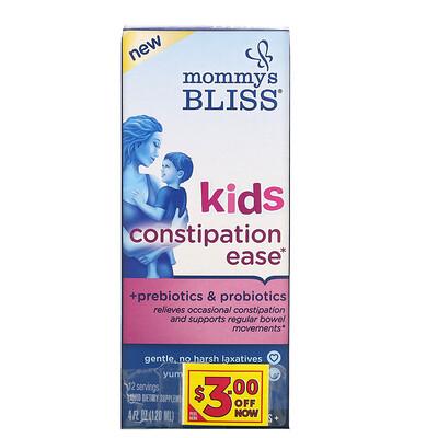 Купить Mommy's Bliss Kids Constipation Ease, 4 Years+, Orange, 4 fl oz (120 ml)