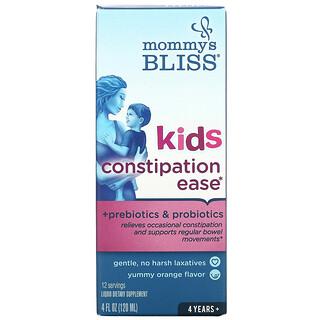 Mommy's Bliss, Kids Constipation Ease, 4 Years+, Orange, 4 fl oz (120 ml)