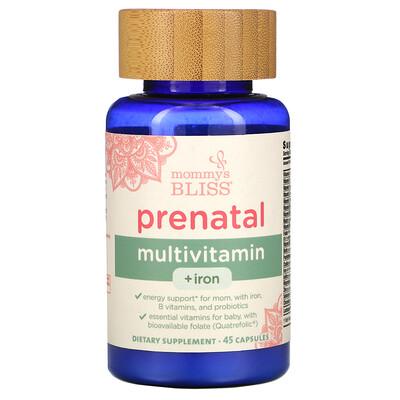 Mommy's Bliss Prenatal Multivitamin + Iron , 45 Capsules