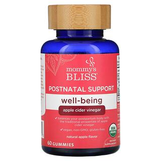 Mommy's Bliss, Postnatal Support Well-Being, Apple Cider Vinegar, Natural Apple, 60 Gummies