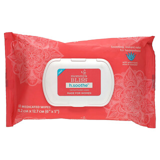 Mommy's Bliss, H.Soothe, Hemorrhoidal Wipes, For Women, 50 Medicated Wipes