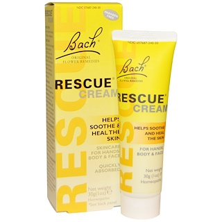 Bach, Original Flower Remedies, Rescue Cream, 1 oz (30 g)