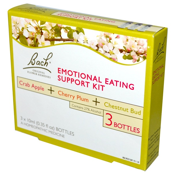 Bach, Emotional Eating Support Kit, 3 Bottles (0.35 fl oz (10 ml) Each (Discontinued Item)