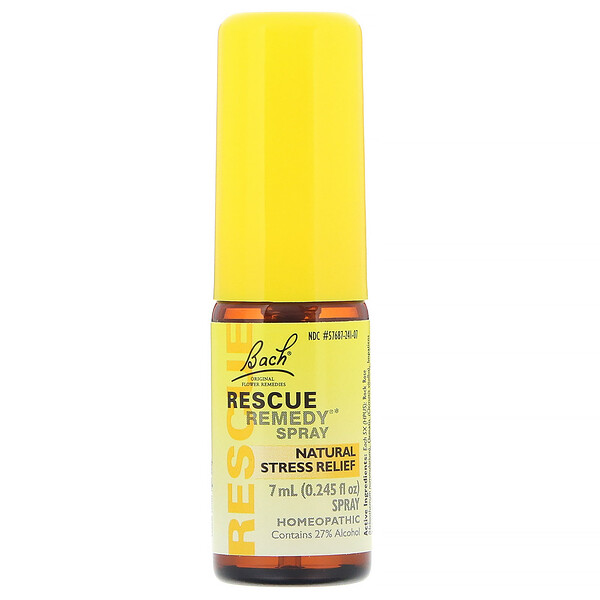 Original Flower Remedies, Rescue Remedy, Natural Stress Relief Spray, 0.245 fl oz (7 ml)
