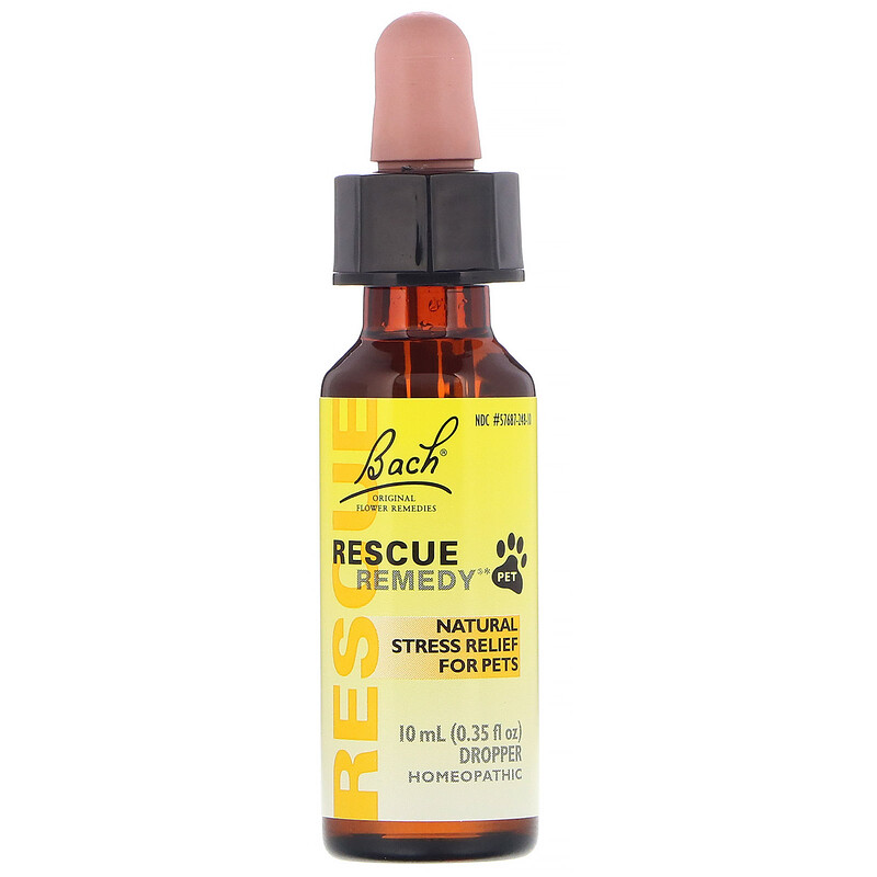 Original Flower Remedies, Rescue Remedy Pet, Natural Stress Relief, Dropper, Alcohol-Free, 0.35 fl oz (10 ml)