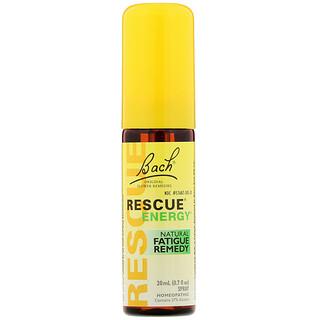 Bach, Remedios originales de flores, Rescue Energy, remedio natural contra la fatiga, 0,7 fl oz (20 ml)