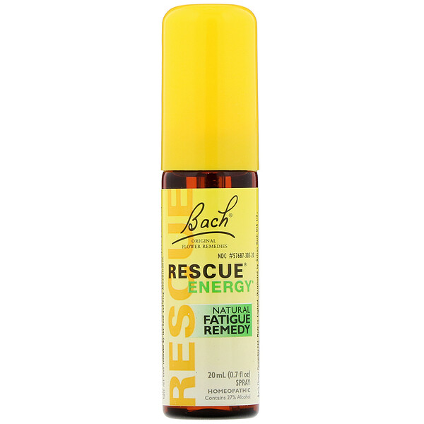 Original Flower Remedies, Rescue Energy, Natural Fatigue Remedy, 0.7 fl oz (20 ml)