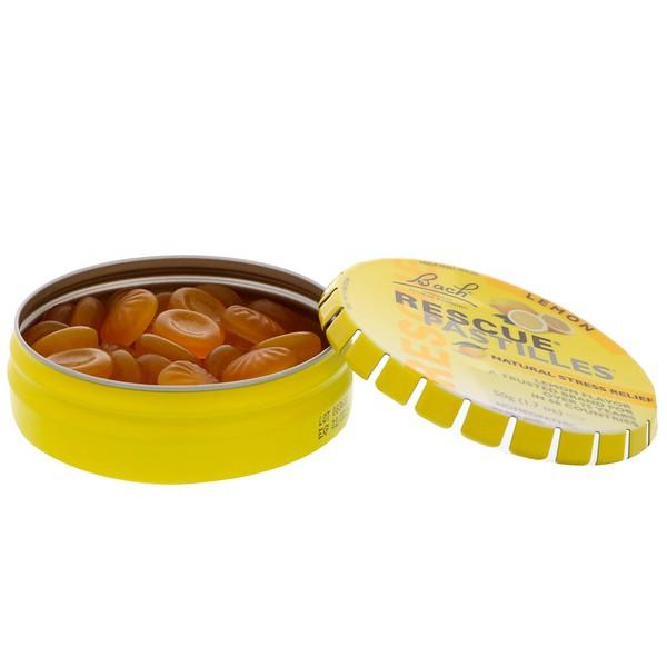 Bach, Original Flower Remedies, Rescue Pastilles, Natural Stress Relief, Lemon, 1.7 oz (50 g)